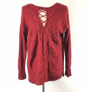 Maurices Ribbed Crisscross Front Pullover Sweater